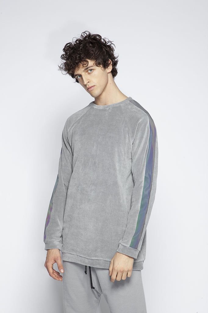 Plush sweatshirt with holographic details