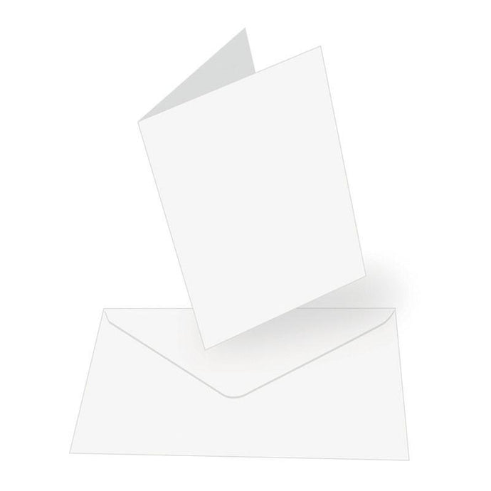 Card + envelope set - White - A6 (50 Sets)