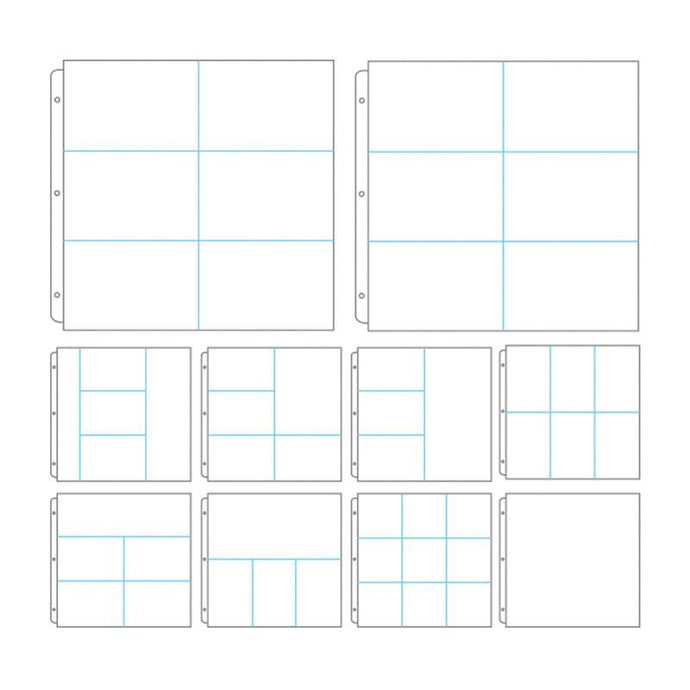 Album Refills - Assorted Dividers 12x12 (10pc - No Paper Insert)