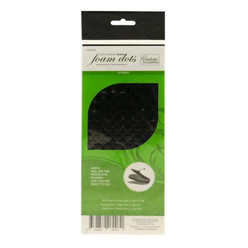 Adhesive - 3D Foam - Black - Dots (150 pcs)
