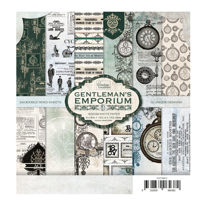 Paper Pad - Gentlemans Emporium - 152.4 x 152.4mm | 6 x 6in