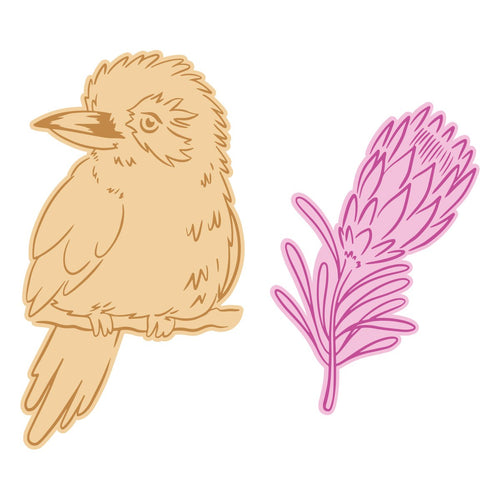 Mini Stamp & Die set - Sweeping Plains - Kookaburra (4pc)