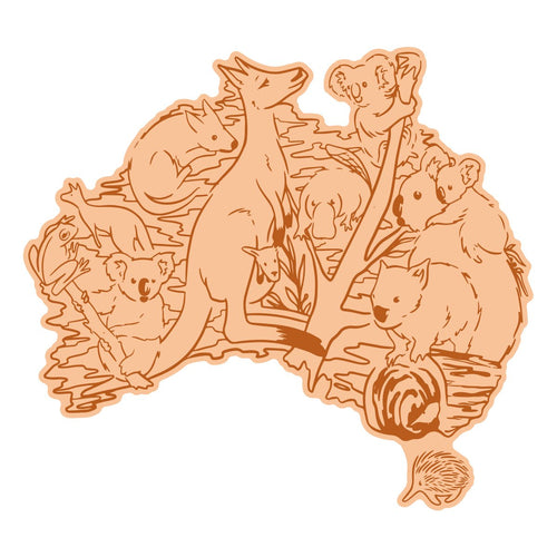 Mini Stamp & Die set - Sweeping Plains - Australian Animals (2pc)