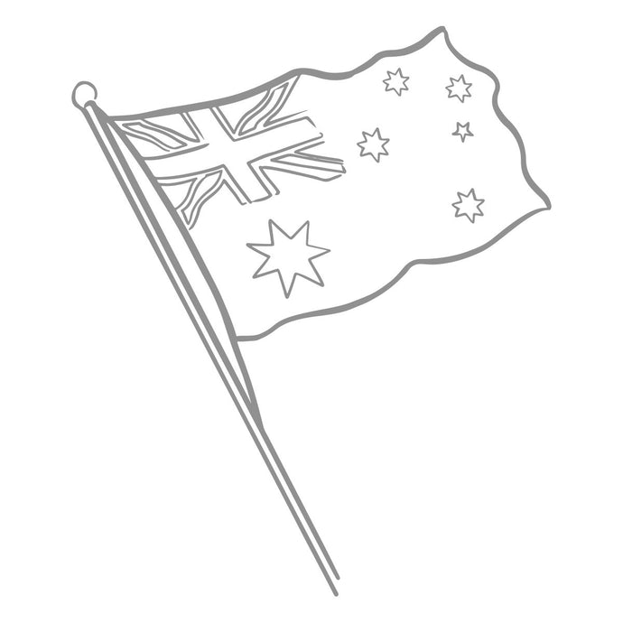 Mini Stamp - Sweeping Plains - Aussie Flag (1pc)