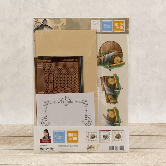 Handy Men Decoupage Set
