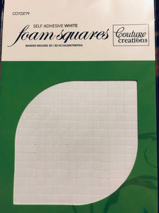 3D Foam White Adhesive Squares - 2mm