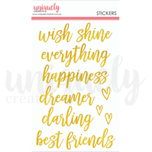 Wish Glitter Stickers