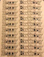 Load image into Gallery viewer, Happy Birthday Acid Free Chipboard