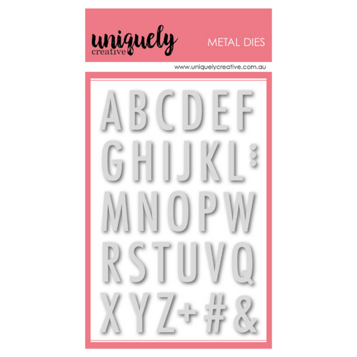 Tall Uppercase Alphabet Die