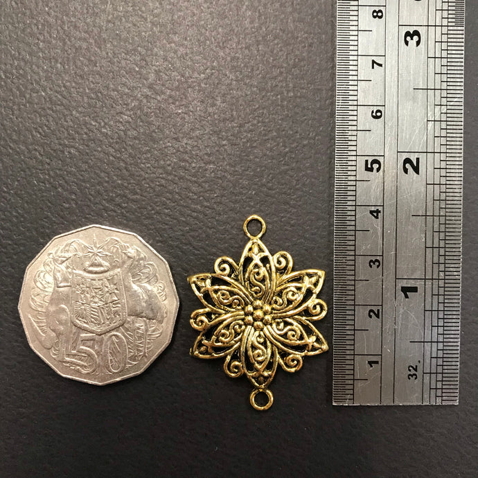 Gold Filigree Flower