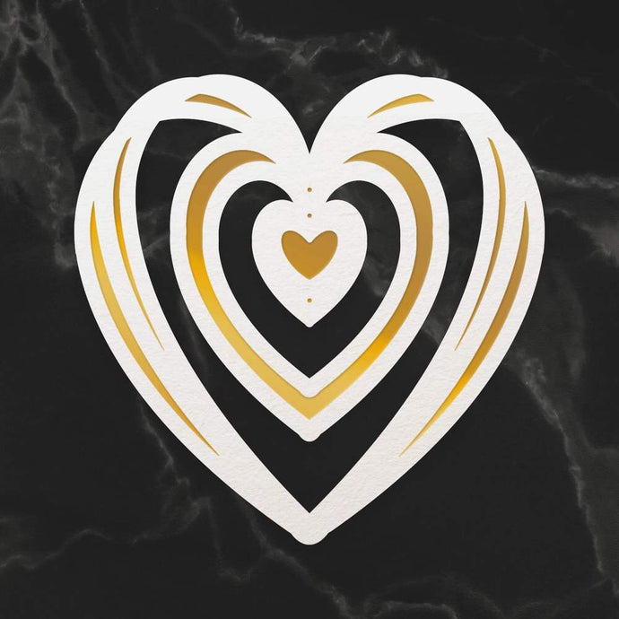 Mini Cut, Foil & Emboss Die - Intertwined Heart (1pc)