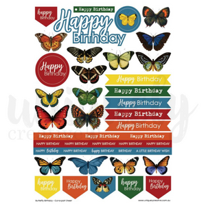 Butterfly Birthday Cut a part