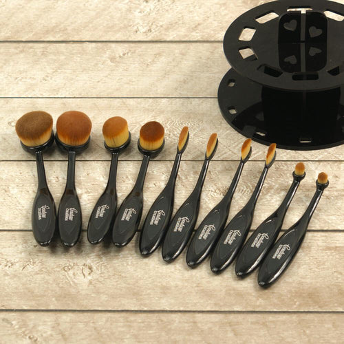 10 pc Blending Brush Kit with Display Stand