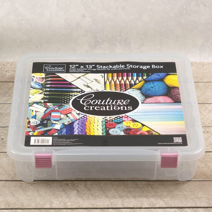 "12"" x 13"" Stackable storage box"