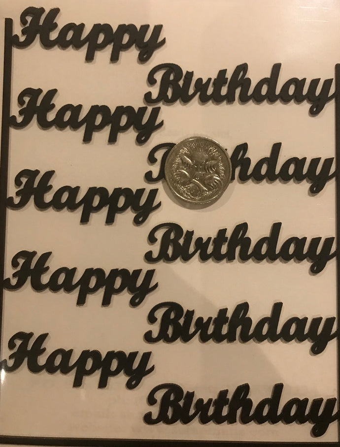 Happy Birthday chipboard - Script