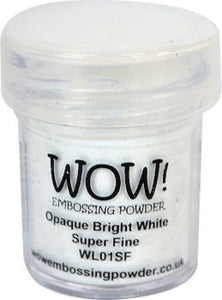 Wow Opaque Bright White Super Fine Embossing Powder