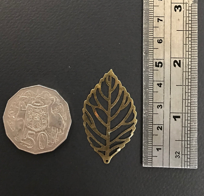 Small metal leaves