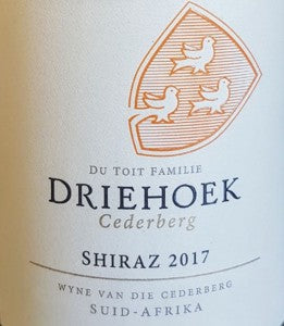 Winemag review: Driehoek Shiraz 2017