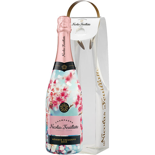 Nicolas Feuillatte Réserve Exclusive Brut Rosé NV Special Spring Edition in Gift Pack