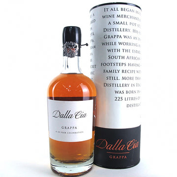 Dalla Cia 10 Year Old Grappa Limited Edition in Tube