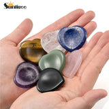 Sunligoo Thumb Worry Stone Natural Heart Palm Stone Pocket Chakra Reiki Healing Crystal Therapy Geometry Energy Smooth Gemstones