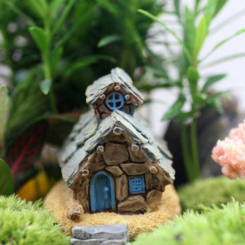 Stone House Fairy Garden Miniature Craft Micro Cottage Landscape Decoration For DIY Resin Crafts  LBShipping