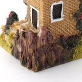 Cute Mini Resin House Miniature House Fairy Garden Micro Landscape Home Garden Decoration Resin Crafts 4 styles Color Random