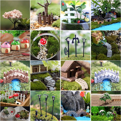Mini Craft Figurine Plant Pot Garden Ornament Miniature Fairy Garden Decor DIY