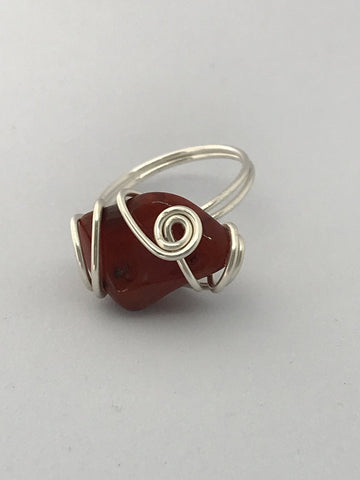 Handcrafted Red Jasper Ring