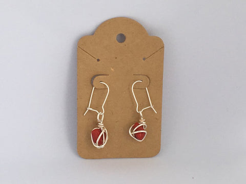 Handcrafted Red Jasper Earrings