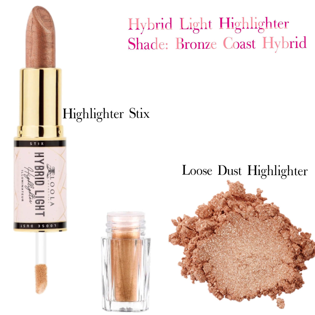 Bronze Coast Hybrid Light - Highlighter and Glow Stix - Loolacosmetics