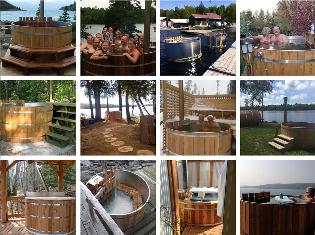 Wood fired hot tubs canada cedar hot tubs