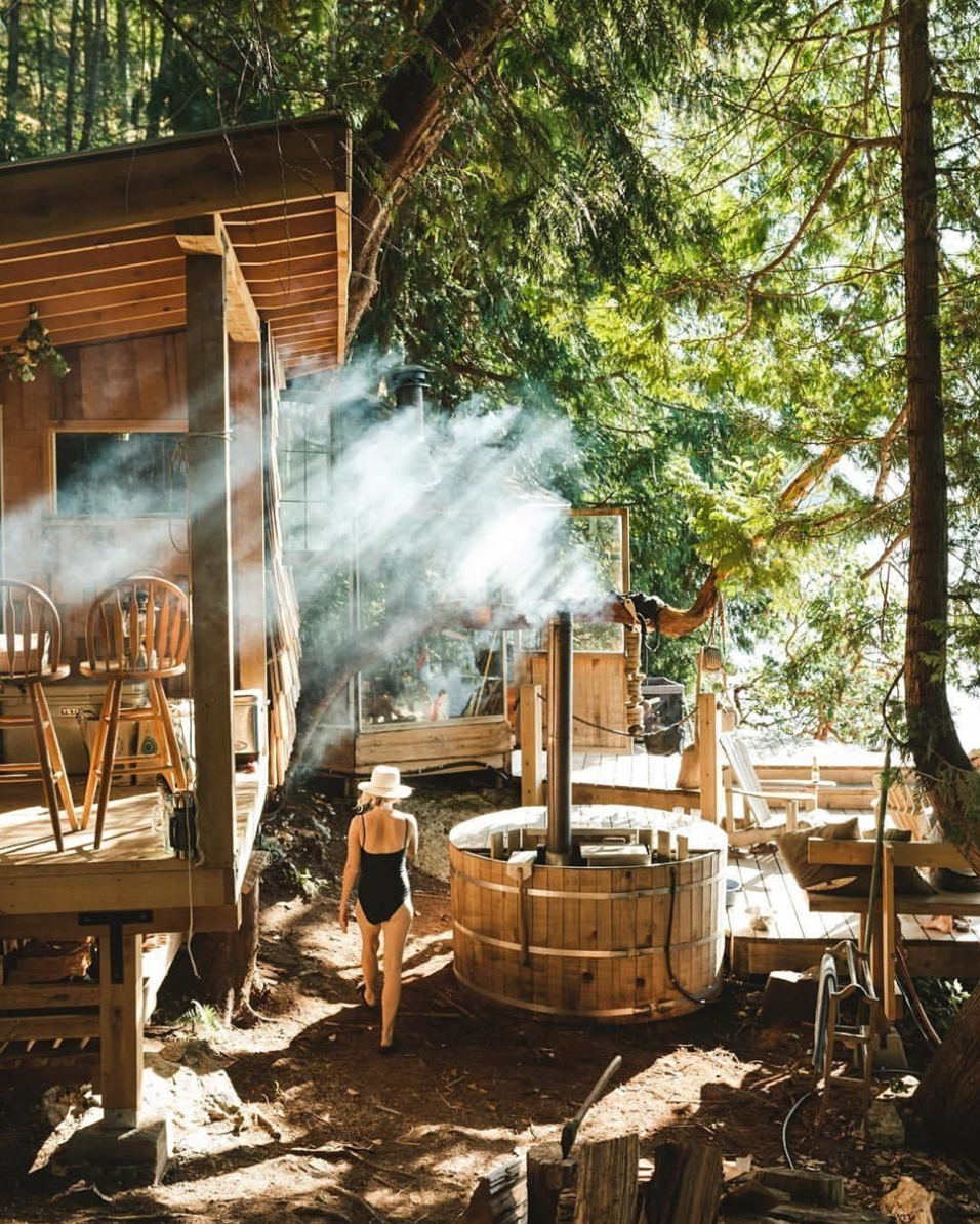 wood burning hot tub alumitub