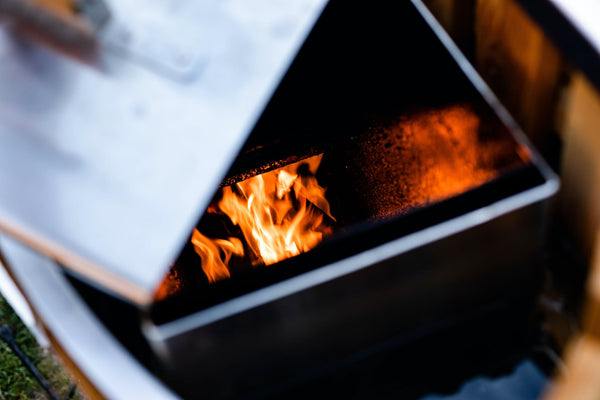 An AlumiTubs wood-fired hot tub is heated only by fire, making them a practical choice for off-grid cabins and remote vacation properties.