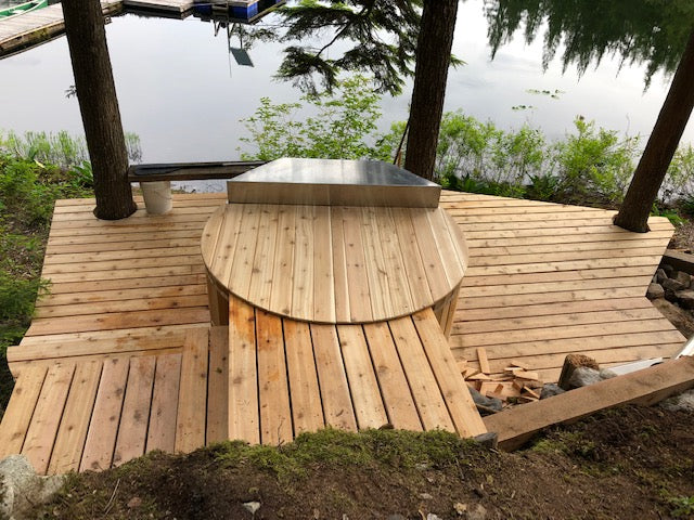 Wood Fired Hot Tub Firebox Lid