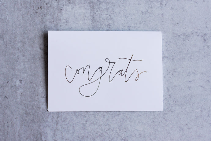Congrats Greeting Card Set (Pack of 5) - Seville Lettering Company