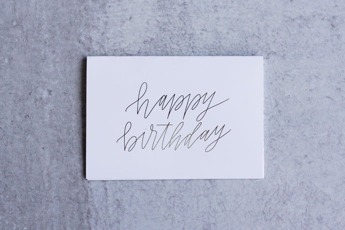 Happy Birthday Greeting Card Set (Pack of 5) - Seville Lettering Company