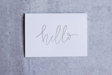 Load image into Gallery viewer, Hello Greeting Card Set (Pack of 5) - Seville Lettering Company