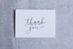 Thank You Greeting Card Set (Pack of 5) - Seville Lettering Company