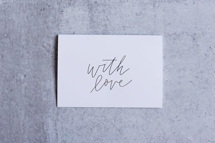 With Love Greeting Card Set (Pack of 5) - Seville Lettering Company
