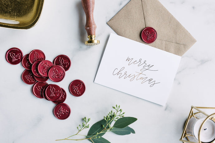 Holly Wax Seal Stamp Kit - Seville Lettering Company