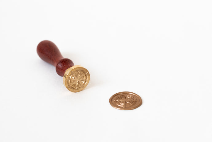 Compass Wax Seal Stamp - Seville Lettering Company