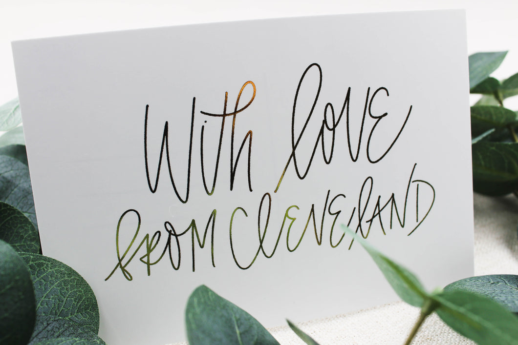 With Love From Cleveland Postcard - Seville Lettering Company