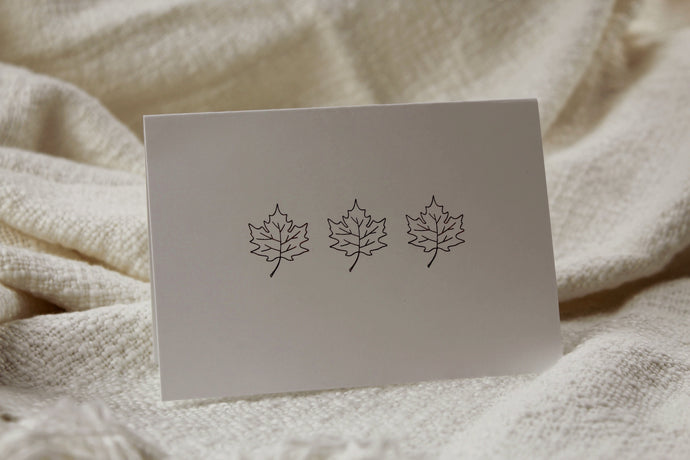 Maple Leaf Greeting Card Set (Pack of 5) - Seville Lettering Company