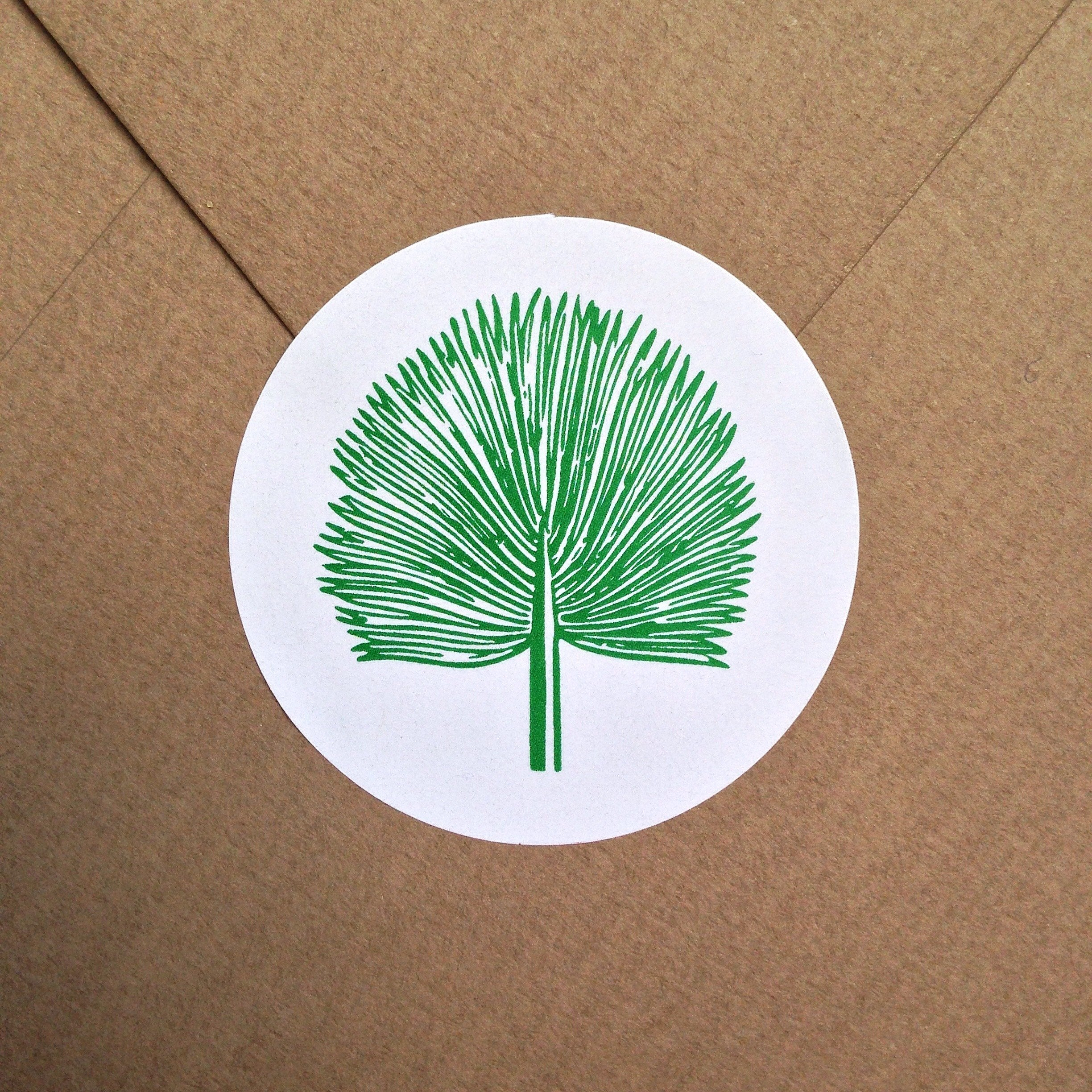 Série Green - 10 Stickers palme