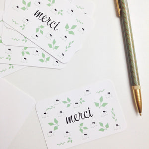 10 mini cartes merci