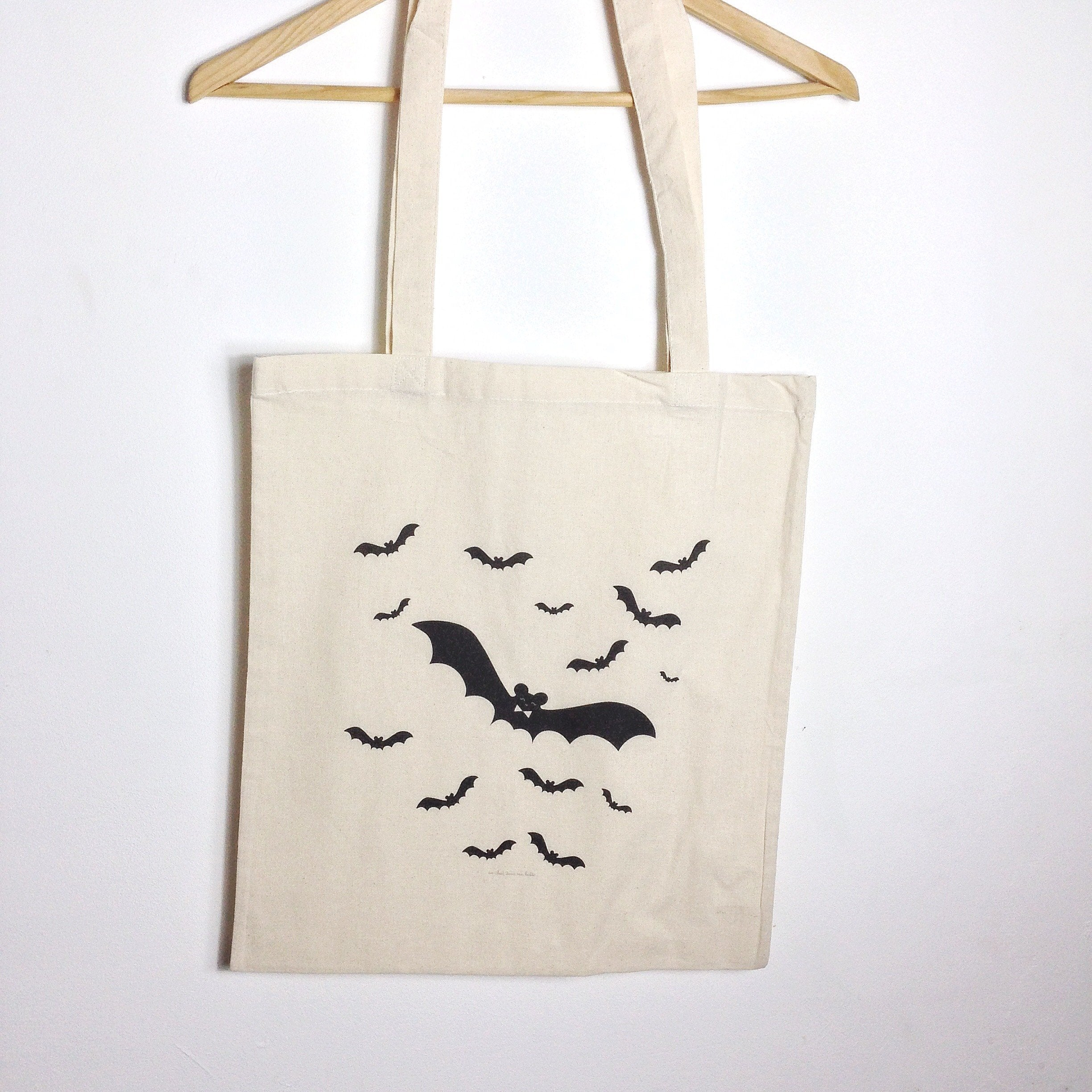 Halloween : tote bag chauves-souris