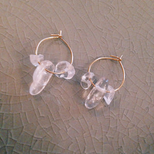 Boucles d'oreilles LISA - Collection cristal de roche