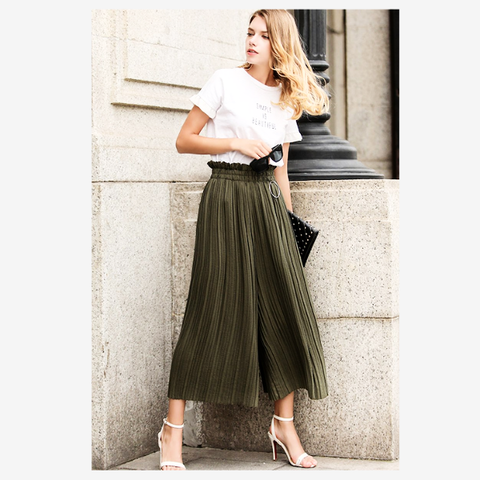 Women's Pleated Summer Pants | RnD International