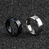 Men's Titanium Simple Back, Gold, Silver Rings for Everyday wear | RnD International